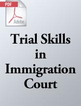 Trial Skills in Immigration Court (.PDF)