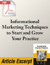 Informational Marketing Techniques to Start and Grow Your Practice (.PDF)