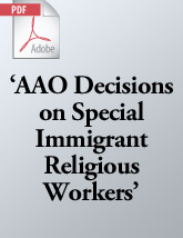 AAO Decisions on Special Immigrant Religious Workers (.PDF)