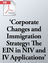 The EIN in NIV and IV Applications (.PDF)