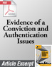 Evidence of a Conviction and Authentication Issues in Immigration Court Proceedings (.PDF)