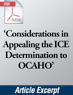 Considerations in Appealing the ICE Determination to OCAHO (.PDF)