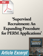 Supervised Recruitment: An Expanding Procedure for PERM Applications (.PDF)