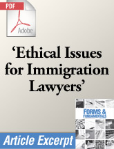Ethical Issues for Immigration Lawyers (.PDF)