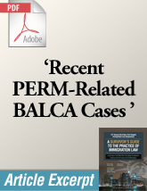 Recent PERM-Related BALCA Cases (.PDF)
