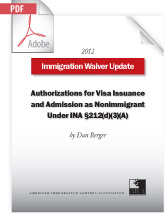 Authorizations for Visa Issuance Under INA §212(d)(3)(A) (.PDF)